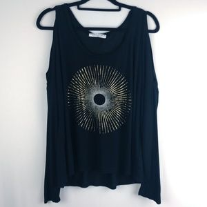 Project Social T Long Sleeve Boho Top Size Large